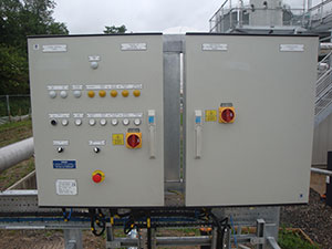Control panel and compressor panel
